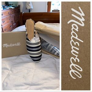 Madewell NIB Cassidy Mule in Evelyn Stripe 8M